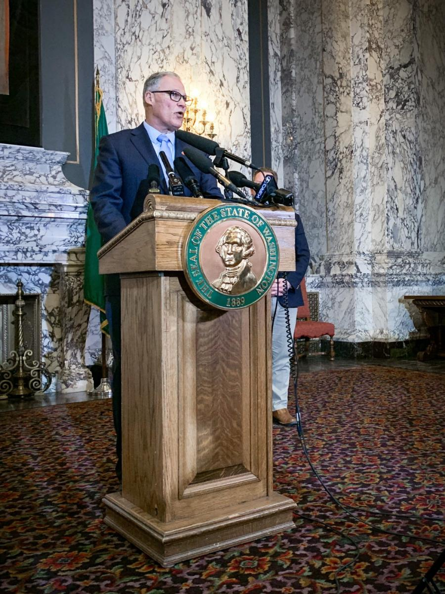 Inslee announces statewide school closures, expansion of limits on large gatherings