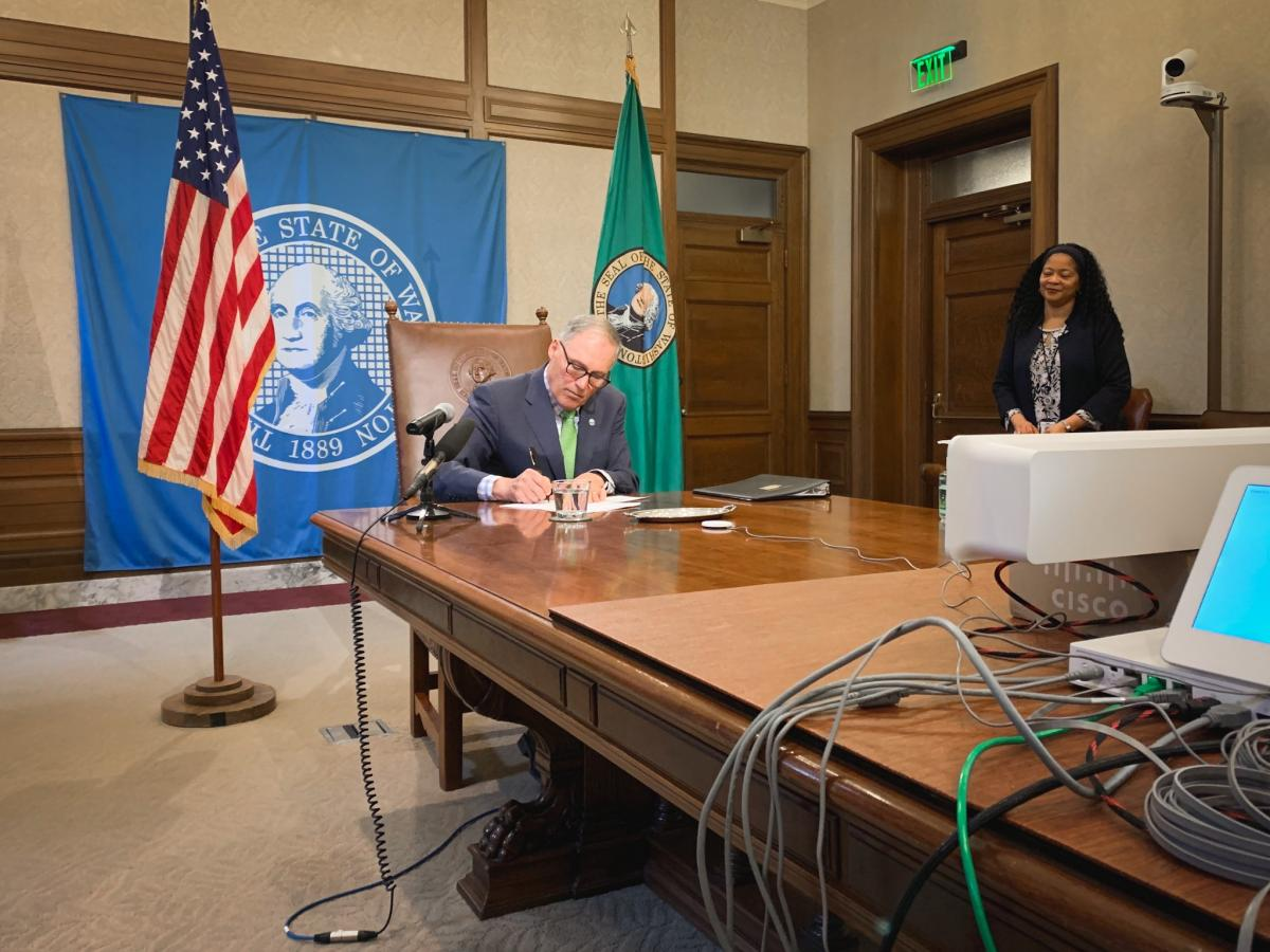 Inslee signs bill package to support state effort combating the COVID-19 outbreak