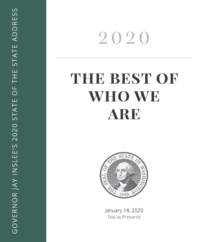 Front page of 2020 State of the State speech