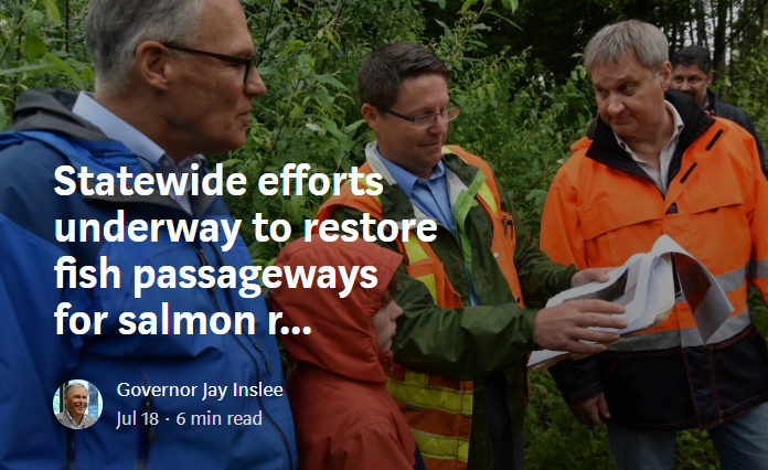 Statewide efforts underway to restore fish passageways for salmon recovery