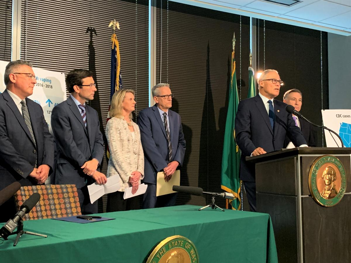 Inslee issues executive order to change how state will regulate vaping industry in light of recent healthcrisis