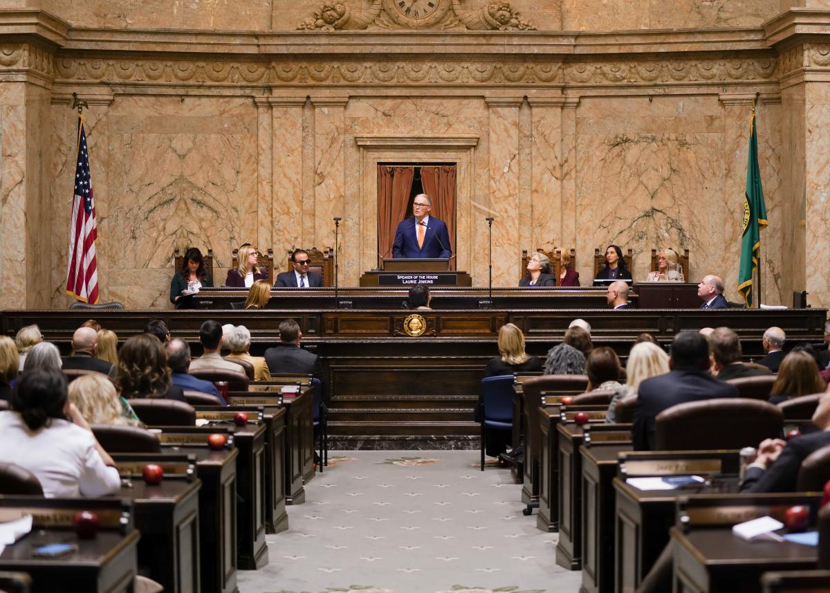 """Inslee's State of the State: """"The best of who we are"""""""