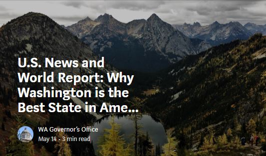 U.S. News and World Report: Why Washington is the Best State in America
