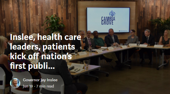 Inslee, health care leaders, patients kick off nation's first public option health care effort