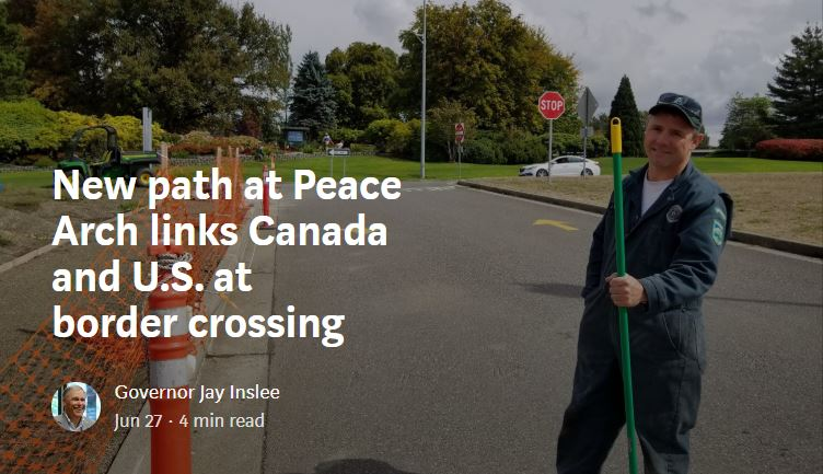 New path at Peace Arch links Canada and U.S. at border crossing