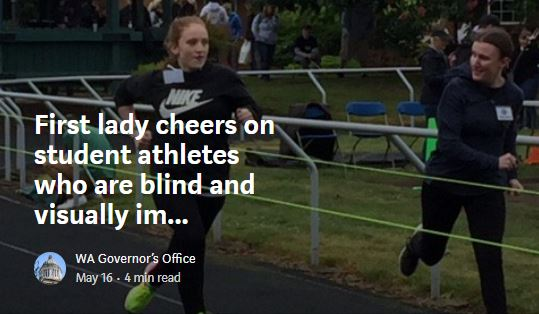 First lady cheers on student athletes who are blind and visually impaired