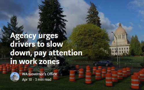 Agency urges drivers to slow down, pay attention in work zones