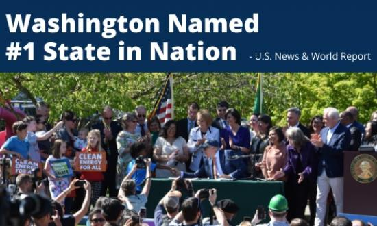 Washington Named No. 1 State in Nation