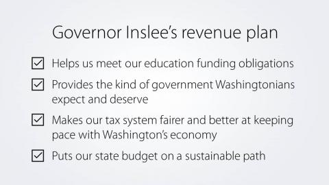 Governor Inslee's revenue plan