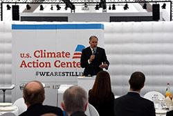 Governor Jay Inslee participated in the United Nations Climate Change Conference's Conference of the Parties in Bonn, Germany, in November 2017