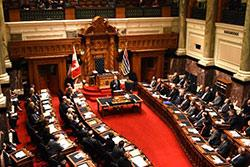 Governor Inslee traveled to Victoria, British Colombia, Canada to address the Legislative Assembly.